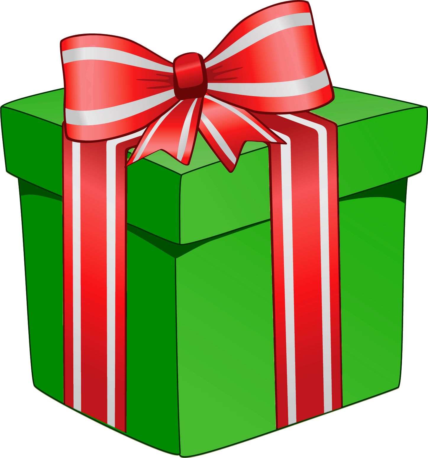 Holiday clipart present.