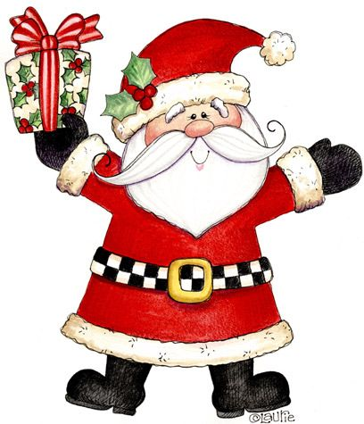 Santa christmas clipart.
