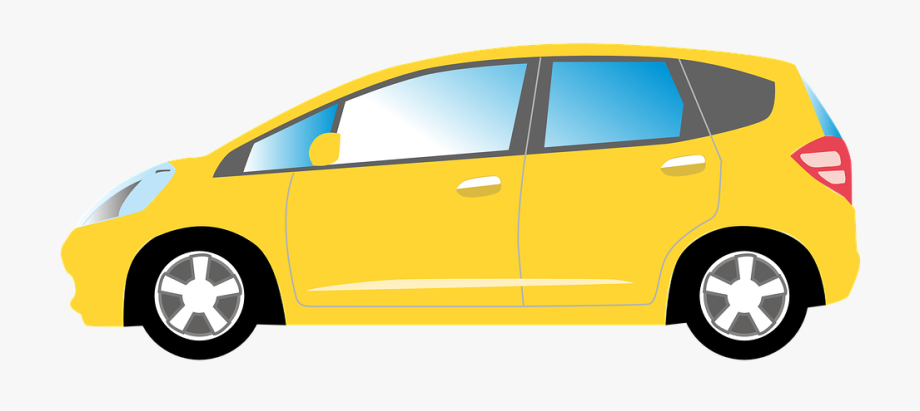 Car yellow auto.