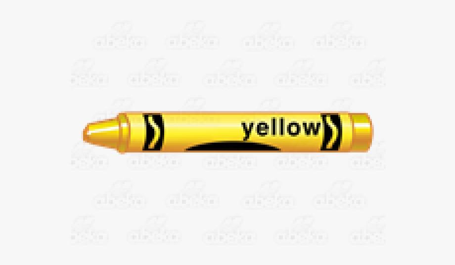 Crayon clipart yellow.