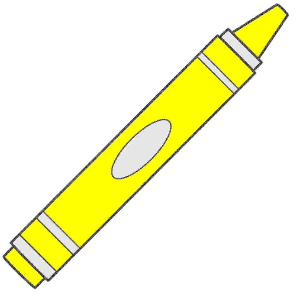 Yellow crayon clip.