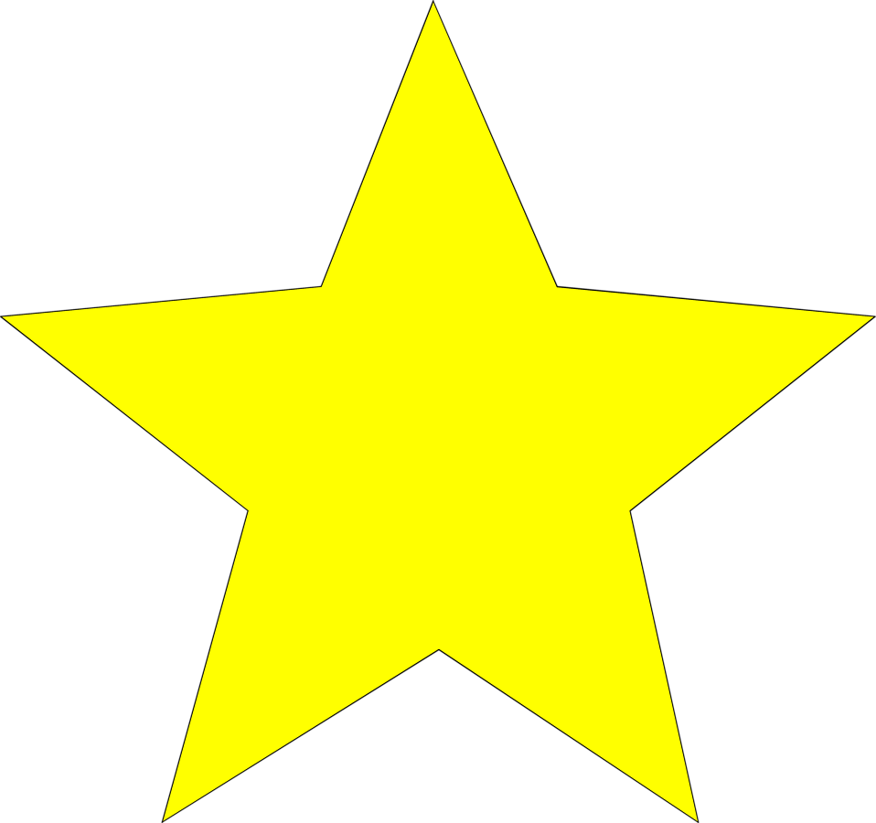 Free yellow star.