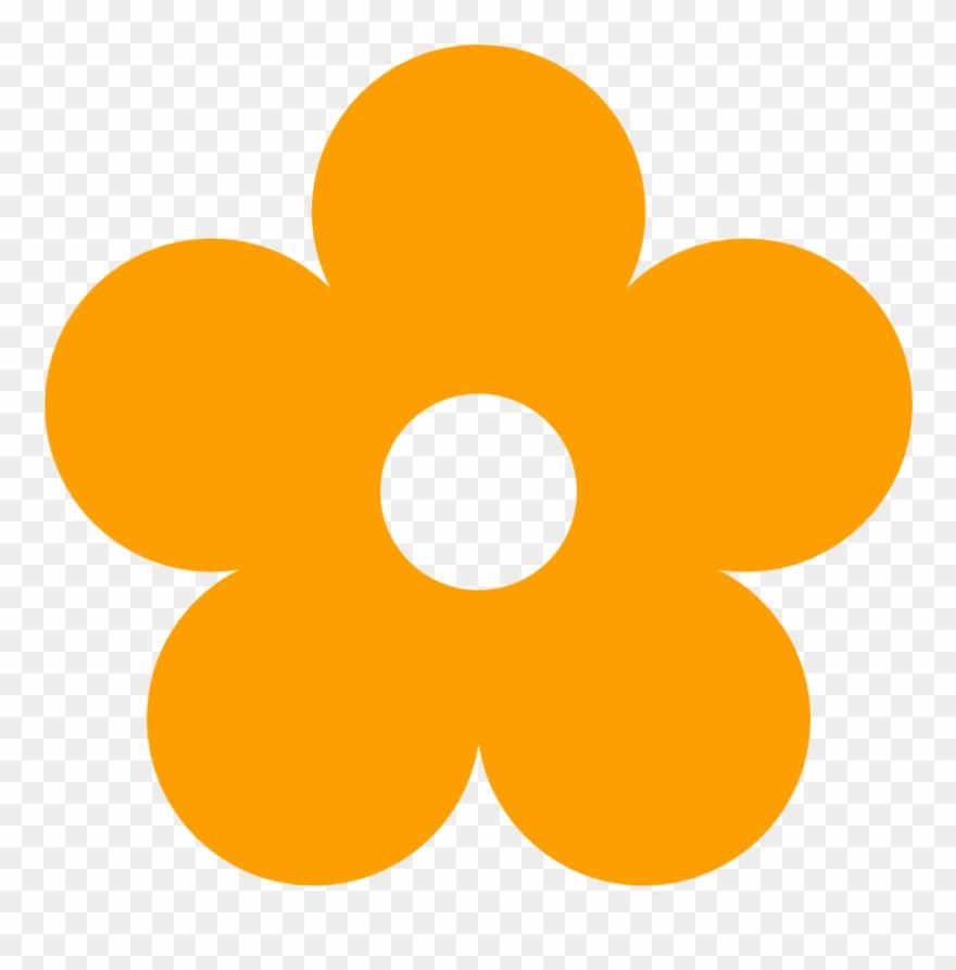 Orange Flower Clipart Kid Art