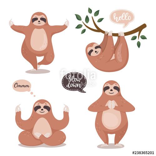 Set cute sloths.