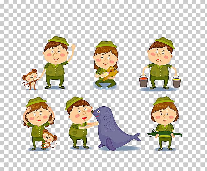 Cartoon zookeeper lovely.