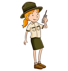 Zookeeper clipart lady.