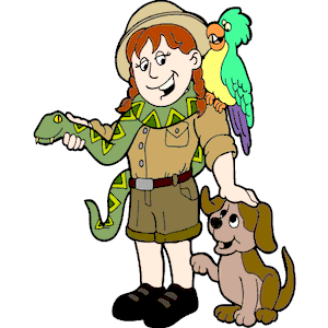 Zookeeper clipart boy.