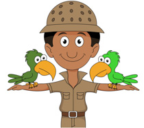zookeeper clipart white